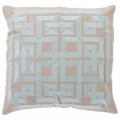 Beth Lacefield by Surya Squares Calm Decorative Pillow @LaylaGrayce