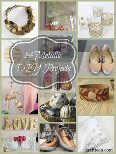 14 Metallic DIY Projects - Craft Teen