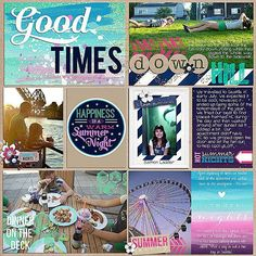 Beautiful Project Life layout, love the colors #scrapbooking #ProjectLife