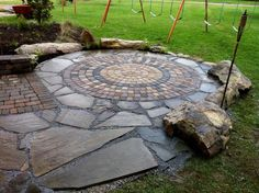 Oasis Circle Patio Kit With Path Transition Https Www Burncol Outdoor Living By Paula Sanford Pinterest Patios And Gardens