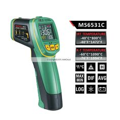 (38.99$)  Watch here - http://aictc.worlditems.win/all/product.php?id=32691796635 - Mastech MS6531C color display infrared Thermometer -40~800 degrees With K type thermometer