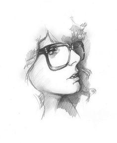 someone girl vintage glasses