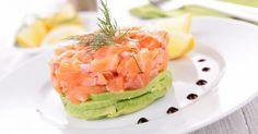 Recette de Tartare minceur de saumon et d'avocat citronné. Facile et rapide à réaliser, goûteuse et diététique. Ingrédients, préparation et recettes associées.
