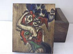 harley quinn keepsake stash wood box