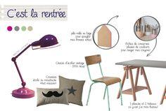 LA RENTREE - Tendance rentrée des classes chez KERIA - lampe architecte, DIY, bureau, récup