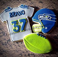 Personalized Seahawks cookies