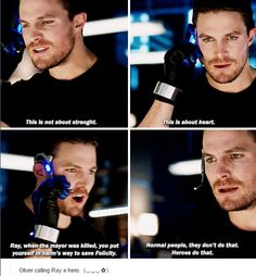 Just one step closer to the Justice League forming and such a cool character development moment for both Oliver and Ray.