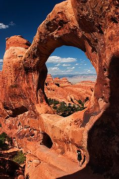 The Double O - Arches National Park, Utah, United States.