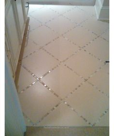 Beautiful Glass Tiles Instead Of Grout In The Bathroom Tile Floor – DIY Home Decor Ideas on a Budget – Easy and Creative Decor Ideas – Click for Tutorial | CraftRiver The post Glass Tiles Inste ..