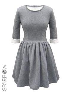 Gray dress for winter