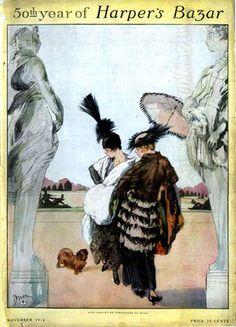 Vintage Harper's Bazar Graphic Art Prints, Framed Art Prints, Fashion Illustration Vintage, Illustration Art, Magazine Illustration, Fashion Illustrations, Vintage Prints, Vintage Posters, Vintage Signs