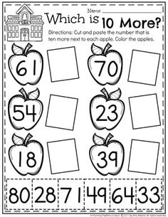 10 More Worksheets for Kindergarten Math