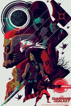 Guardians of the galaxy Tom Whalen NT mondo stout moss poster