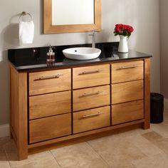 bathroom vanities oak single sink - Google Search