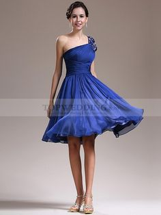 Pleated Strapless Chiffon Homecoming Dress with Long Tailed Sash, blue bridesmaid dresses, blue bridesmaid gowns