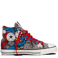 767a0c0f4825 Converse - Chuck Taylor DC Comics- Superman - Hi - Grey Red. Cool ConverseConverse  All StarConverse ShoesSuperman ...