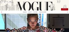 I chose the Vogue website because I like the futuristic design. The main menu is in a small font and is in the center of the page which gives it a simplistic feeling. In the left hand corner, there is an icon that expands into a larger, more detailed menu. I like this design because it hides the majority of the content until you want to see it for yourself.  I think that on my own website, I would consider doing a similar design with the content expanding in one click.