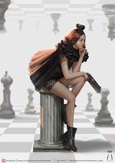 Chess Piece Tattoo, Queen Chess Piece, Giant Chess, How To Play Chess, Fish Man, Female Character Design, Fashion Poses, Rook, Artistic Photography