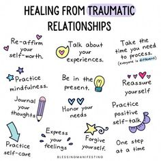 Healing from traumatic relationships. practice mindfulness,self care,positive self talk Abusive Relationship, Toxic Relationships, Healthy Relationships, Relationship Advice, Marriage Tips, Everything Is Energy, Positive Self Talk, Self Care Activities, Work Activities