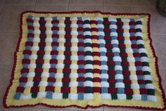 This is a Rainbow Blocks blanket I made for one of my clients, she ordered it for her grand-son.