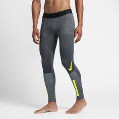 NIKE MEN PRO HYPER WARM TIGHT COOL GREY BLUE GREEN 802014 480 065 100 340 Gym Gear For Men, Workout Gear For Men, Gym Men, Nike Outfits, Sport Outfits, Nike Tech Fleece Pants, Fitness Man, Mens Tights, Barefoot Men