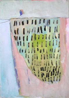 Mountain Original abstract mixed media on paper by BrookeWandall, $65.00