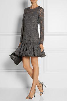 DKNY | Floral-lace dress | NET-A-PORTER.COM
