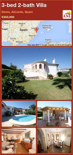 3-bed 2-bath Villa in Denia, Alicante, Spain ►€350,000 #PropertyForSaleInSpain