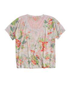 dELiAs > Aria Watercolor Floral Tee > tops > knit tops