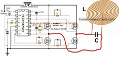 Homemade Induction Heating Coil - Our Houzz Hobby Electronics, Electronics Projects, Electrical Projects, Electrical Engineering, Electronic Circuit Design, Electrical Circuit Diagram, Power Supply Circuit, Induction Heating, Electronic Schematics