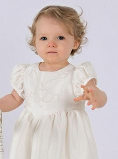 Hand beaded Christening dress, Amy by Okika. Delicate beading makes this gown…