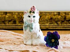 Cordelia Cat Figurine Miniature Kitty 1940s by microCosmico