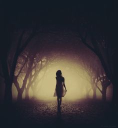Silhouette of girl in dark forest Story Inspiration, Writing Inspiration, Character Inspiration, Tao Te Ching, Writing Prompts, Dark Side, The Darkest, Fairy Tales, In This Moment