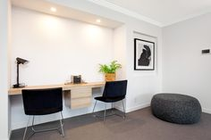 Contemporary stylish home office nook in polytec Natural Oak Ravine