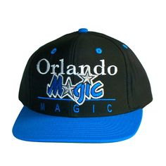 bba9c174003 ORLANDO MAGIC Retro Old School Snapback Hat - NBA Cap - 2 Tone Black Blue   Amazon.co.uk  Sports   Outdoors