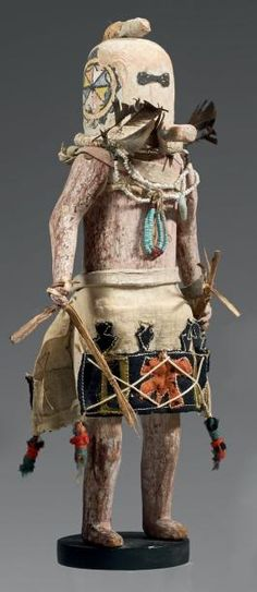 SALIMOPIA de l'OUEST - Rare et ancien Katsina Salimopia (Antes 86 à 90). Circa 1920-1940. Zuñi, Nouveau Mexique, U.S.A