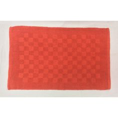 Reversible Double Ruila Cotton Mat - Red (50cm x 80cm) - Mode Alive - Home Decor Heaven