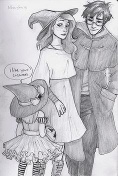 Burdge: Harry and Ginny unwittingly find themselves in muggle London a little too close to halloween. THIS IS ADORABLE