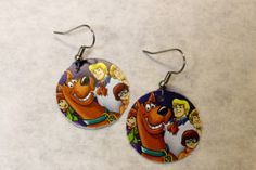 Repurposed Gift Card Earrings By Sewwhutz On Etsy 8 00 Scooby Doo Cards