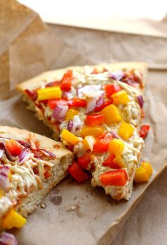 The easiest and best vegan pizza! This crust comes together quickly and is perfect for all your favorite toppings!