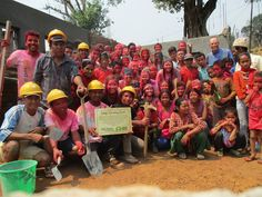 Thanks to Stellies School for all their hard work helping to build a wall around a education center in Nepal! Learning Centers, Early Learning, Personal And Professional Development, Build A Wall, Service Learning, Volunteer Abroad, Education Center, Meet The Team, Hard Work