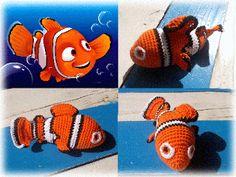crochet nemo fish amigurumi - free pattern http://www.plektologio.blogspot.gr/