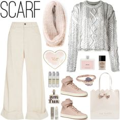How To Wear Pastel Scarf Style Outfit Idea 2017 - Fashion Trends Ready To Wear For Plus Size, Curvy Women Over 20, 30, 40, 50