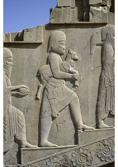 A4 Hahnemuhle PHOTO RAG 308gsm Fine Art Paper (other products available) - Tribute bearers, bas-relief in Apadana palace, Persepolis (Unesco World Heritage List, 1979), Iran, Achaemenid civilization, 6th-5th century BC. - Image supplied by Fine Art Storehouse - A4 Fine Art Print on 308gsm Paper made in the UK