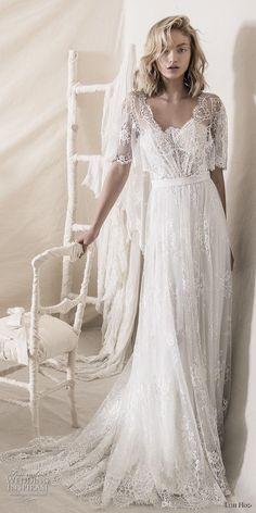 Discount Romantic Bohemian Soft A Line Strapless Neckline Wedding Dresses Lihi Hod 2018 Full Lace Embellishment Bridal Gowns With Wraps Vintage Look Wedding Dresses Wedding Dress Collections From N… Wedding Dress Necklines, Maxi Dress Wedding, Wedding Dresses 2018, Bridal Dresses, Maxi Dresses, Bohemian Lace Wedding Dress, Event Dresses, Bridesmaid Dresses, Bohemian Dresses