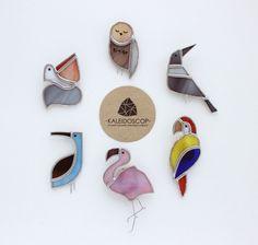 Купить Брошки - Птички - разноцветный, витражное стекло, брошки, украшения из стекла, витражи тиффани