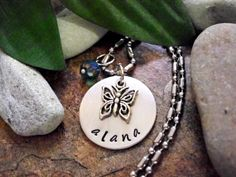 Butterfly Jewelry Personalized Butterfly Necklace by CharmAccents, $18.00