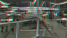 https://flic.kr/p/Qgfc67 | Central-station Utrecht 3D | anaglyph stereo red/cyan