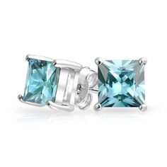 Bling Jewelry Sterling Silver CZ Aquamarine Color Stud Earrings Princess Cut 7mm, http://www.amazon.com/dp/B00GMSYBW2/ref=cm_sw_r_pi_awdm_zrIntb01SAKQY