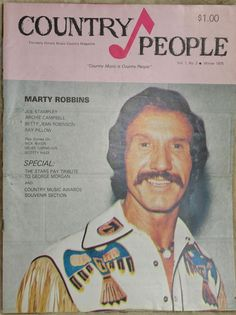 Vintage Marty Robbins Country Music Publication